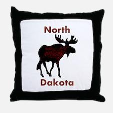 Customized Plain Moose Throw Pillow