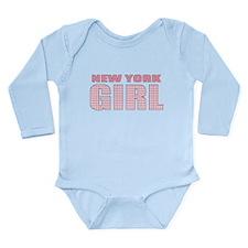New York Girl Long Sleeve Infant Bodysuit