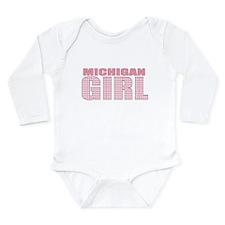Michigan Girl Long Sleeve Infant Bodysuit
