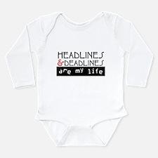 Headlines & Deadlines Long Sleeve Infant Bodysuit