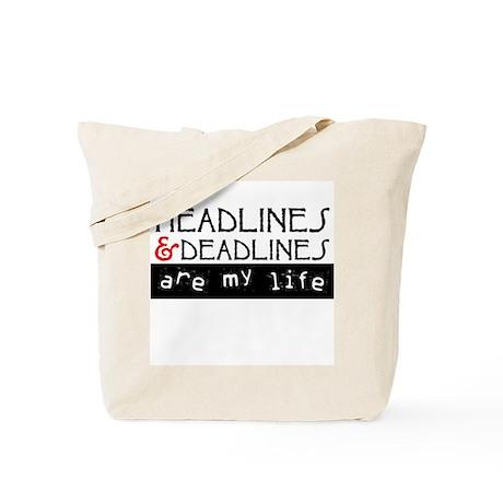 Headlines & Deadlines Tote Bag