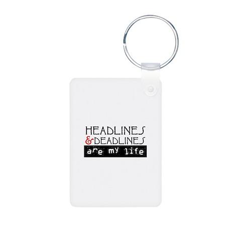 Headlines & Deadlines Aluminum Photo Keychain
