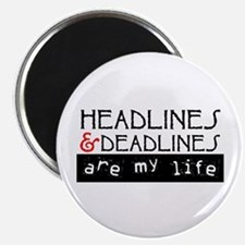 "Headlines & Deadlines 2.25"" Magnet (10 pack)"
