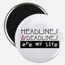 "Headlines & Deadlines 2.25"" Magnet (100 pack)"