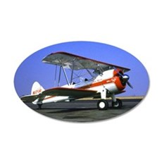 Bi-Plane 22x14 Oval Wall Peel