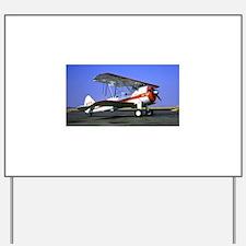 Bi-Plane Yard Sign