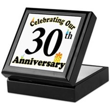 30th Anniversary Party Gift Keepsake Box