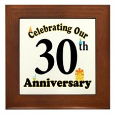 30th Anniversary Party Gift Framed Tile