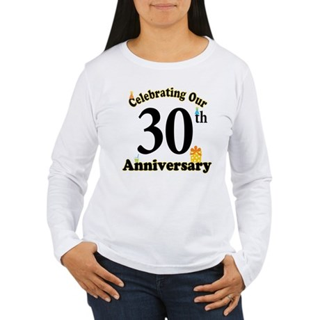 30th Anniversary Party Gift Women's Long Sleeve T-