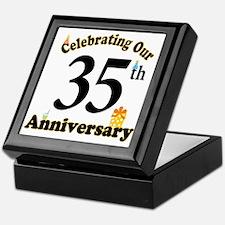 35th Anniversary Party Gift Keepsake Box