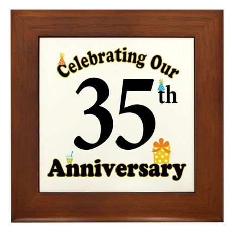 35th Anniversary Party Gift Framed Tile