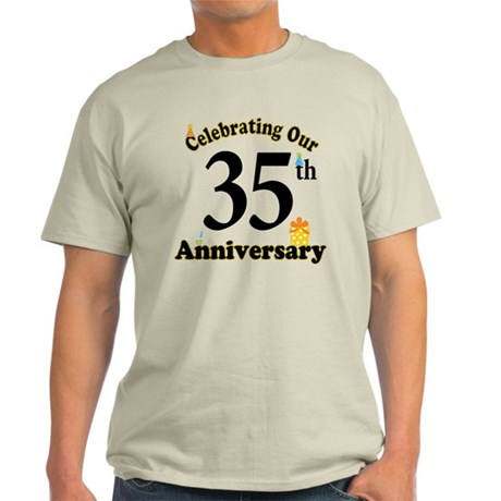 35th Anniversary Party Gift Light T-Shirt
