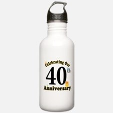 40th Anniversary Party Gift Water Bottle