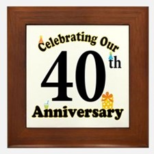 40th Anniversary Party Gift Framed Tile