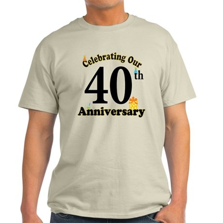 40th Anniversary Party Gift Light T-Shirt