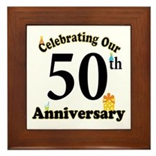 50th Anniversary Party Gift Framed Tile