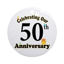 50th Anniversary Party Gift Ornament (Round)