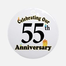55th Anniversary Party Gift Ornament (Round)