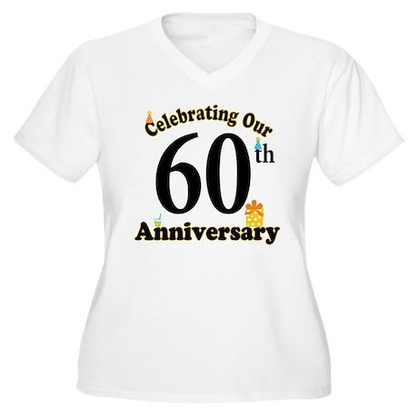 60th Anniversary Party Gift Women's Plus Size V-Ne