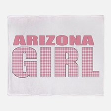 Arizona Girl Throw Blanket