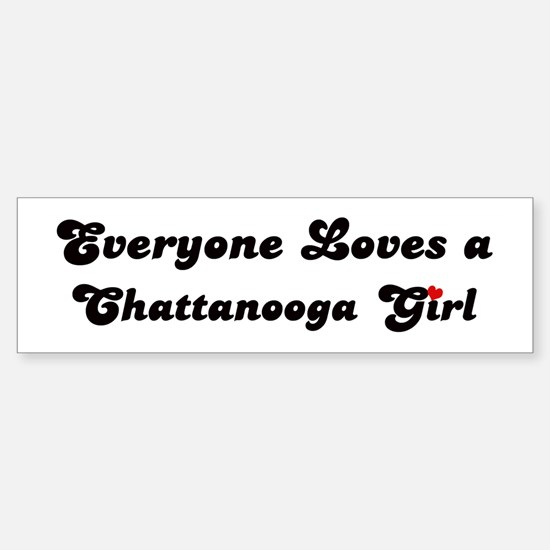 Loves Chattanooga Girl Bumper Bumper Bumper Sticker