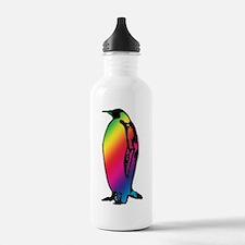 Rainbow Penguin Water Bottle