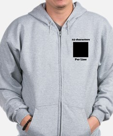 Your Picture Your Text Zip Hoodie