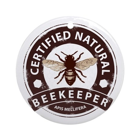 Certified Beekeeper Ornament (Round)