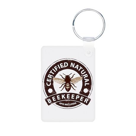 Certified Beekeeper Aluminum Photo Keychain