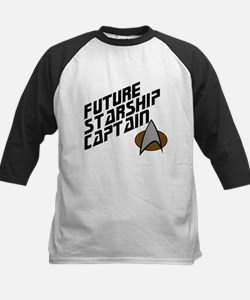 Future Starship Captain Kids Baseball Jersey
