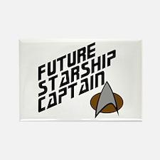 Future Starship Captain Rectangle Magnet