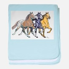 Tennessee walking horse baby blanket
