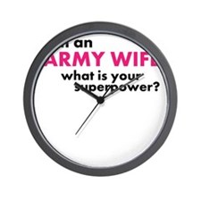 Super Powered Army Wife! Wall Clock