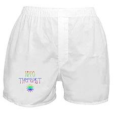 Hippo Therapist (Tie-Dye) Boxer Shorts