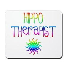 Hippo Therapist (Tie-Dye) Mousepad