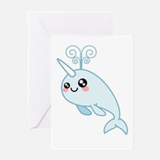 Narwhal Cutie Greeting Card
