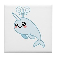 Narwhal Cutie Tile Coaster