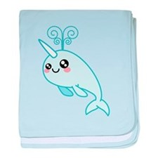 Narwhal Cutie baby blanket