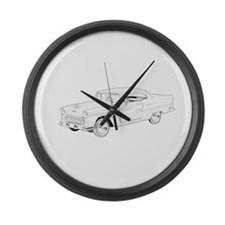 1955 Chevy Bel Air Large Wall Clock