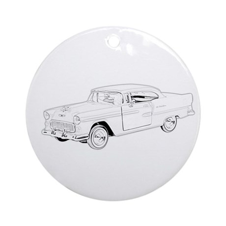1955 Chevy Bel Air Ornament (Round)