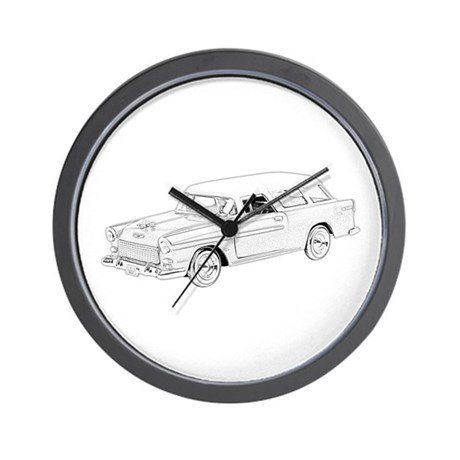 1955 Chevy Nomad Wall Clock