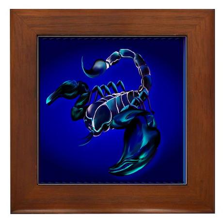 Black Scorpion Framed Tile