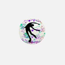 Figure Skater Spin Mini Button