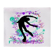 Figure Skater Spin Throw Blanket