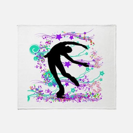 Figure Skater Spin Throw Blanket