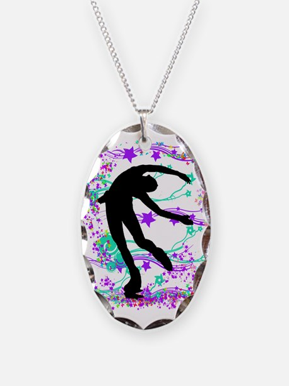 Figure Skater Spin Necklace
