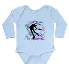 Figure Skater Spin Long Sleeve Infant Bodysuit
