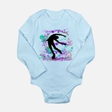 Figure Skater Spin Long Sleeve Infant Bodysuit