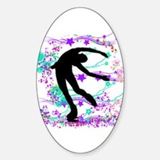 Figure Skater Spin Decal