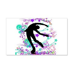 Figure Skater Spin Wall Decal